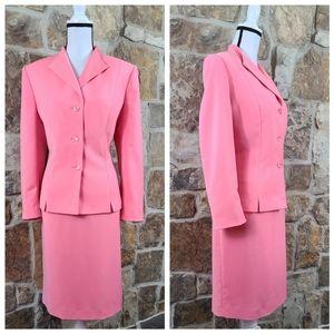 Le Suit 16 16P Pink Skirt Suit Set